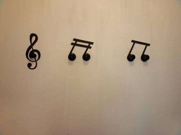 Appendi Giacche Da Muro.Appendi Abiti Da Ingresso Con Le Note Tasti Pianoforte E Pavimento