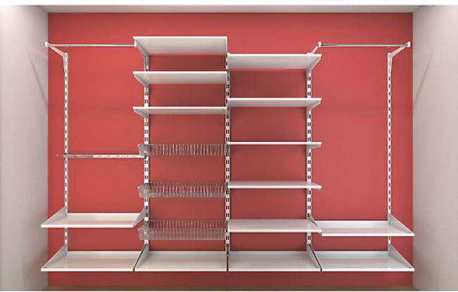 Cabina armadio elegante con o senza tubi quale comprare senza spendere troppo i love casa - Scaffali per cabine armadio ...