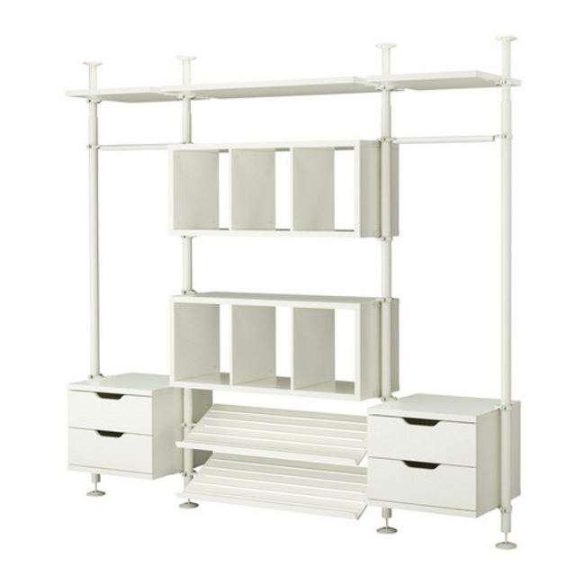 Cabina armadio elegante con o senza tubi quale comprare - Ikea armadio con specchio ...