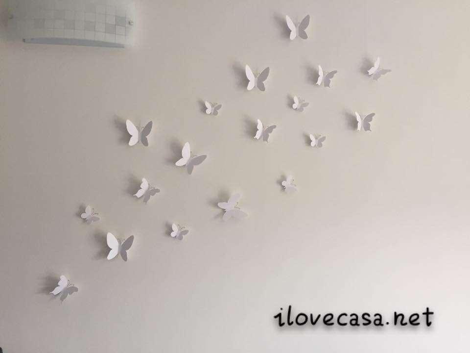 Farfalle umbra da parete per arredare salotto o camera da for Decorazioni muro camera da letto