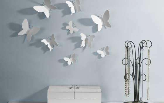 Farfalle umbra da parete per arredare salotto o camera da - Arredare parete camera da letto ...