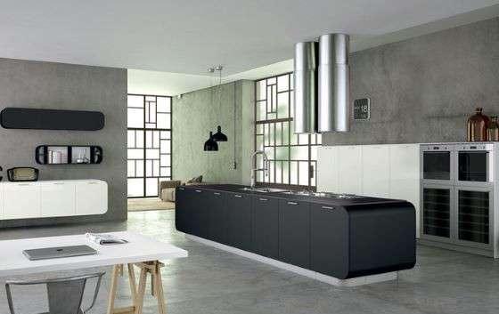 Cucina con soggiorno o ambienti separati? Open space arredamento