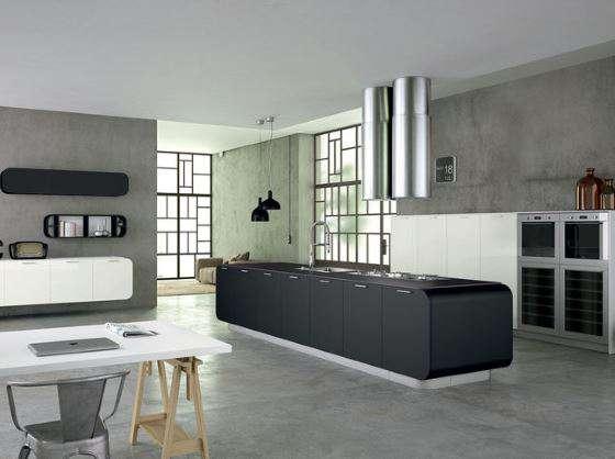 Cucina con soggiorno o ambienti separati open space arredamento - Soggiorno cucina open space ...