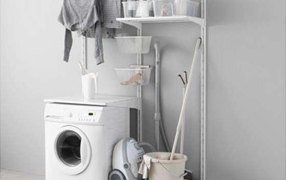 Mobile lavatrice componibile economico fai da te algot - Ikea scaffali bagno ...