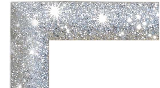 Specchio grande Glitter con cornice di brillantini argentata LeroyMerlin