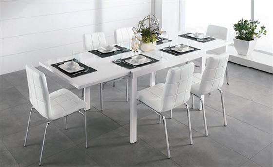 Tavolo allungabile e sedie moderne da mettere in soggiorno Mondo ...