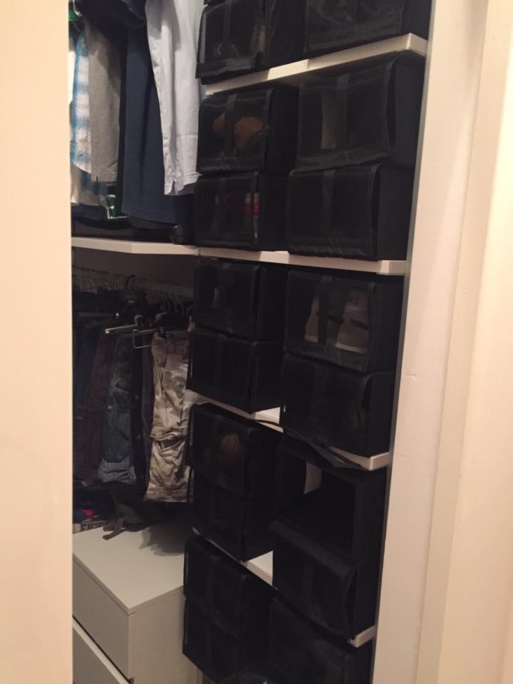 scatole per scarpe cabina armadio
