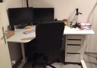 Cassettiera per ufficio IKEA e per stanzetta studio con ruote