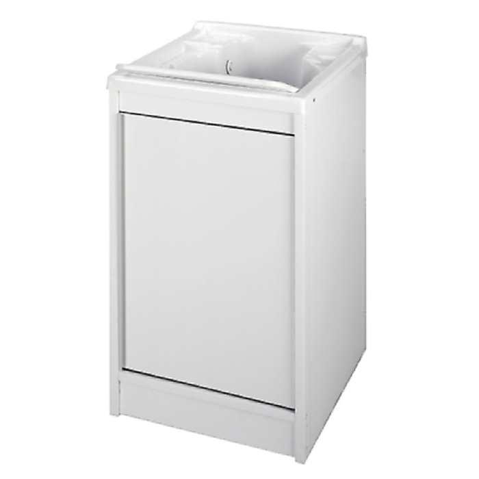 Come arredare bagno lavanderia piccolo mobile lavandino - Portabiancheria sporca ikea ...