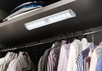 Lampada a LED a pile per cabina armadio luminosa con bioadesivo e sensore di movimento