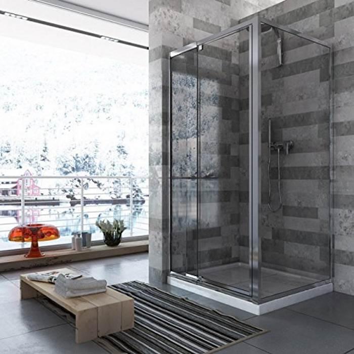Box doccia con anta fissa e porta battente da 70 a 100 cristallo opaco ...