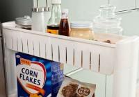 Carrello da cucina con ruote, in legno, pieghevole, bianco o estraibile