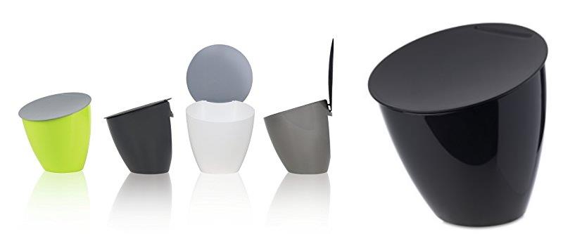 Bidoni pattumiera belli design per capsule caff ufficio cucina camera bagno - Pattumiera da bagno ...