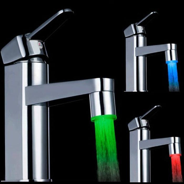 rubinetto miscelatore con luce colorata e sensore di movimento - i ... - Cabina Armadio Luce Calda O Fredda