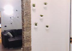 Vasi da appendere con piante in casa
